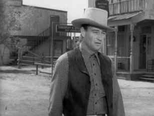 John Wayne in one of many Westerns, Tall in the Saddle